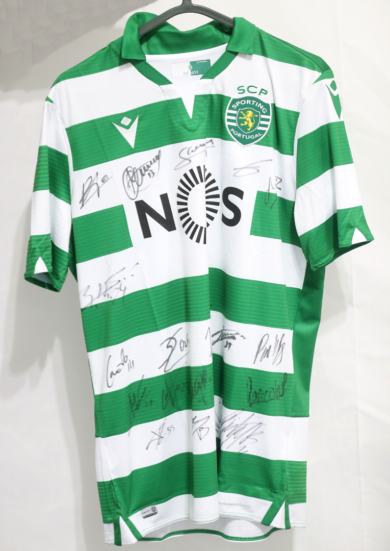 Camisola do Sporting CP autografada pelo plantel - Final Four Allianz