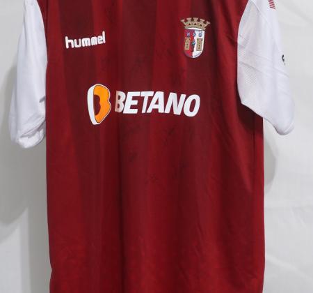 Camisola do SC Braga autografada pelo plantel - Final Four Allianz CUP