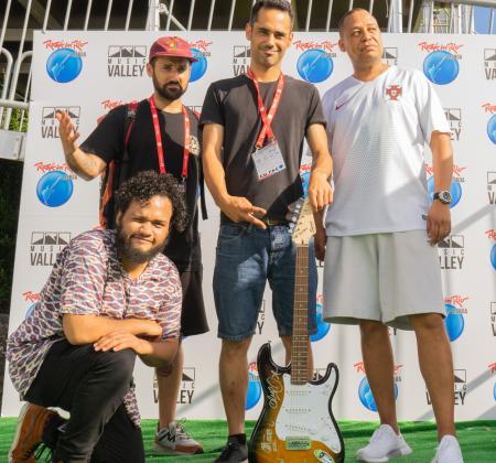 Guitarra autografada pelo Carlão no Rock in Rio