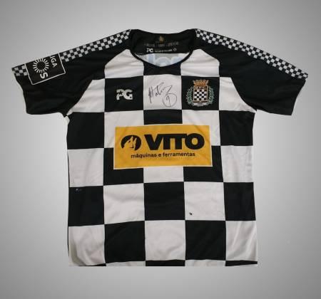 Camisola do Boavista FC autografada pelo Mateus Galiano