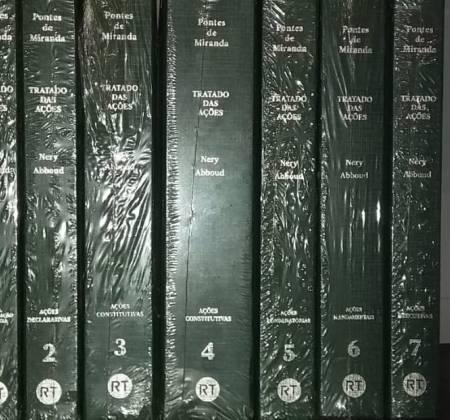 Coleção Tratado da Ação Recisória um volume e tratado das ações 7 volumes. Edições com atualizações de professores e juristas.