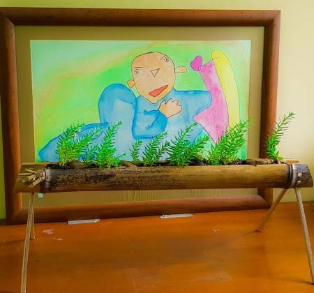 Floreira em Bambu