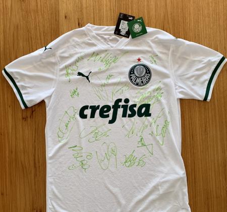 Camisa Oficial do Palmeiras tamanho G Autografada