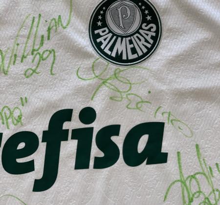 Camisa Oficial do Palmeiras tamanho EGG Autografada