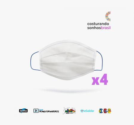 Pacote de 4 Máscaras Costurando Sonhos