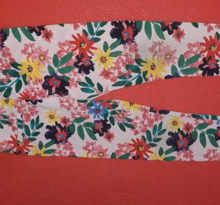 Calças floridas