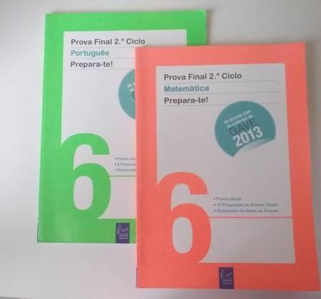 Livros do 6 ano para provas finais.