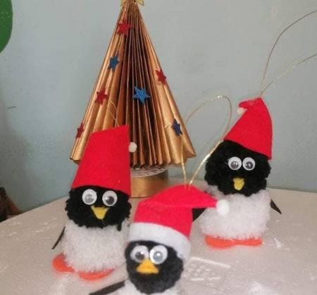 Pendente Pinguim Natal Pack 2