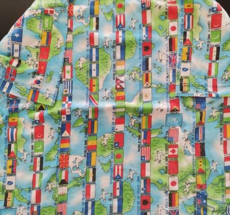 Camisola de manga curta com bandeiras
