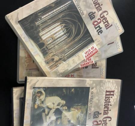Conjunto de dvds sobre a história da arte