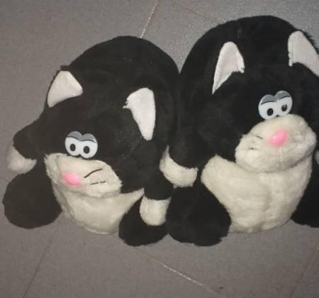Pantufas de gato