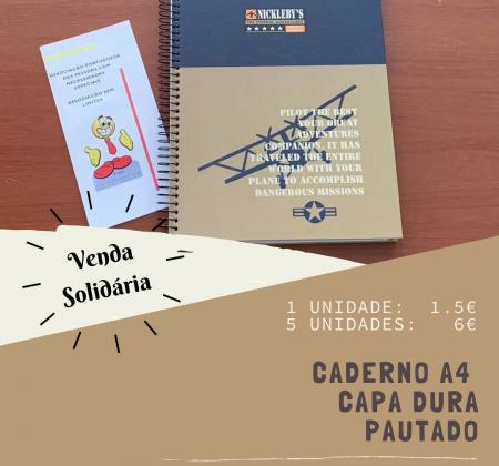Caderno A4 capa dura pautado