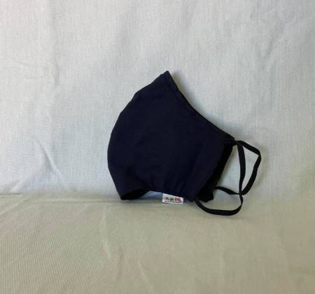 Máscara azul marinho com porta-máscaras