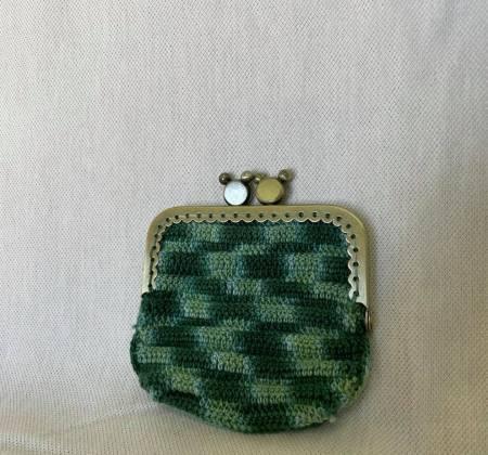 Carteira porta-moedas verde