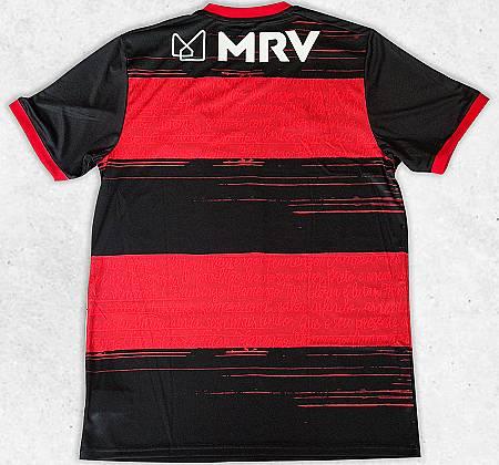 Camisa do Clube Regatas do Flamengo autografada pelos jogadores