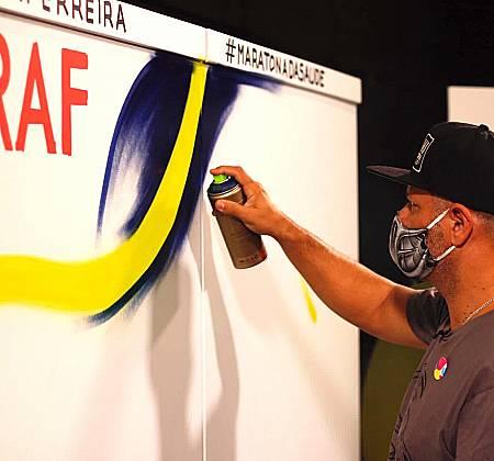 Mural de Arte Urbana, by Raf (Hélice de ADN   Maratona da Saúde)