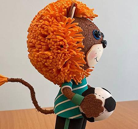 Leão comemorativo da vitória do Sporting no Campeonato Nacional de Futebol