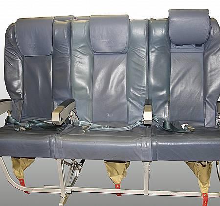 Cadeira tripla de classe executiva de um avião da TAP Air Portugal - 5