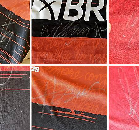 Official Flamengo shirt with 13 autographs