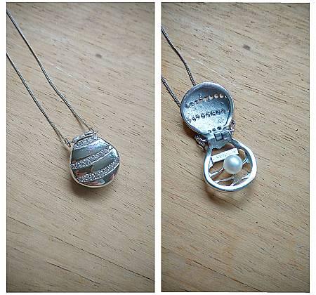 Colar Concha & Pérola em prata 925