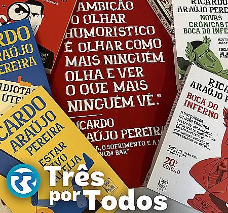 Livros de Ricardo Araújo Pereira autografados pelo autor