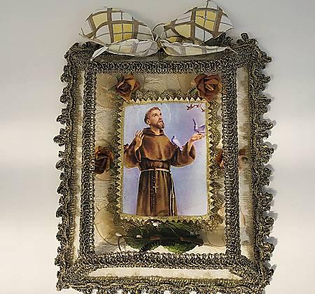 Registo Religioso com estampa de São Francisco de Assis